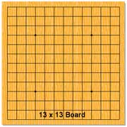 13 x 13 board